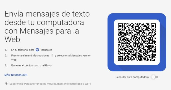 AdaIngunza-Envía textos desde una PC y Mac usando Android Messages interna