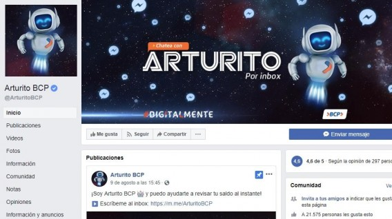 AdaIngunza- Arturito BCP chatbot que atiende consultas financieras